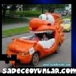 Turuncu Komik Araba